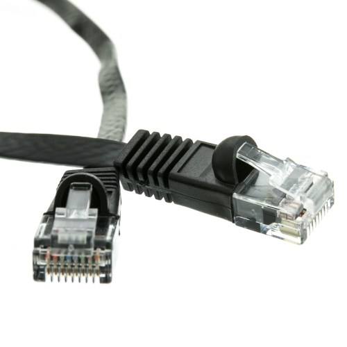 small resolution of cat6 black flat ethernet patch cable 32 awg 1 foot part number