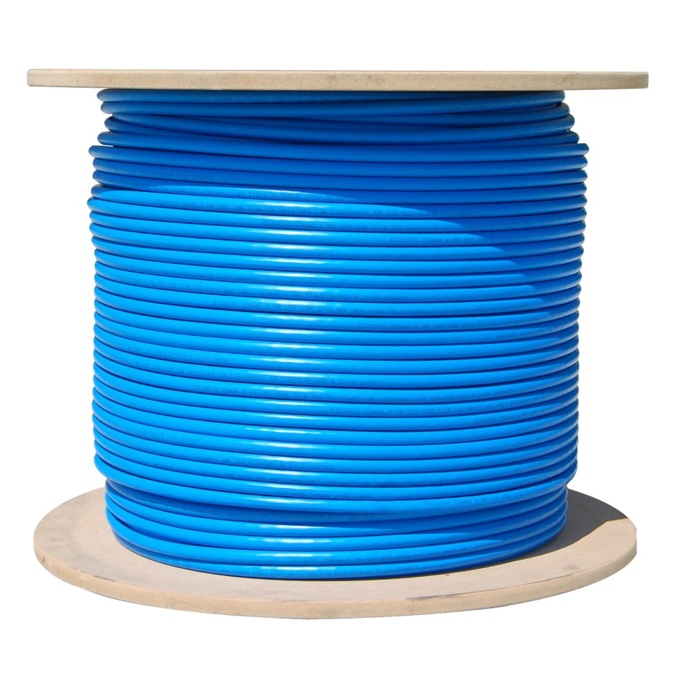 medium resolution of bulk cat6a blue ethernet cable 10 gig solid utp unshielded twisted pair