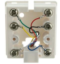 wrg 3124 rj12 jack wiring6p6c phone surface mount jack white rj11 rj12  [ 1000 x 1000 Pixel ]