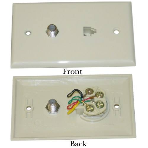 small resolution of  home phone jack wiring satellite wall plate f pin connector telephone jack