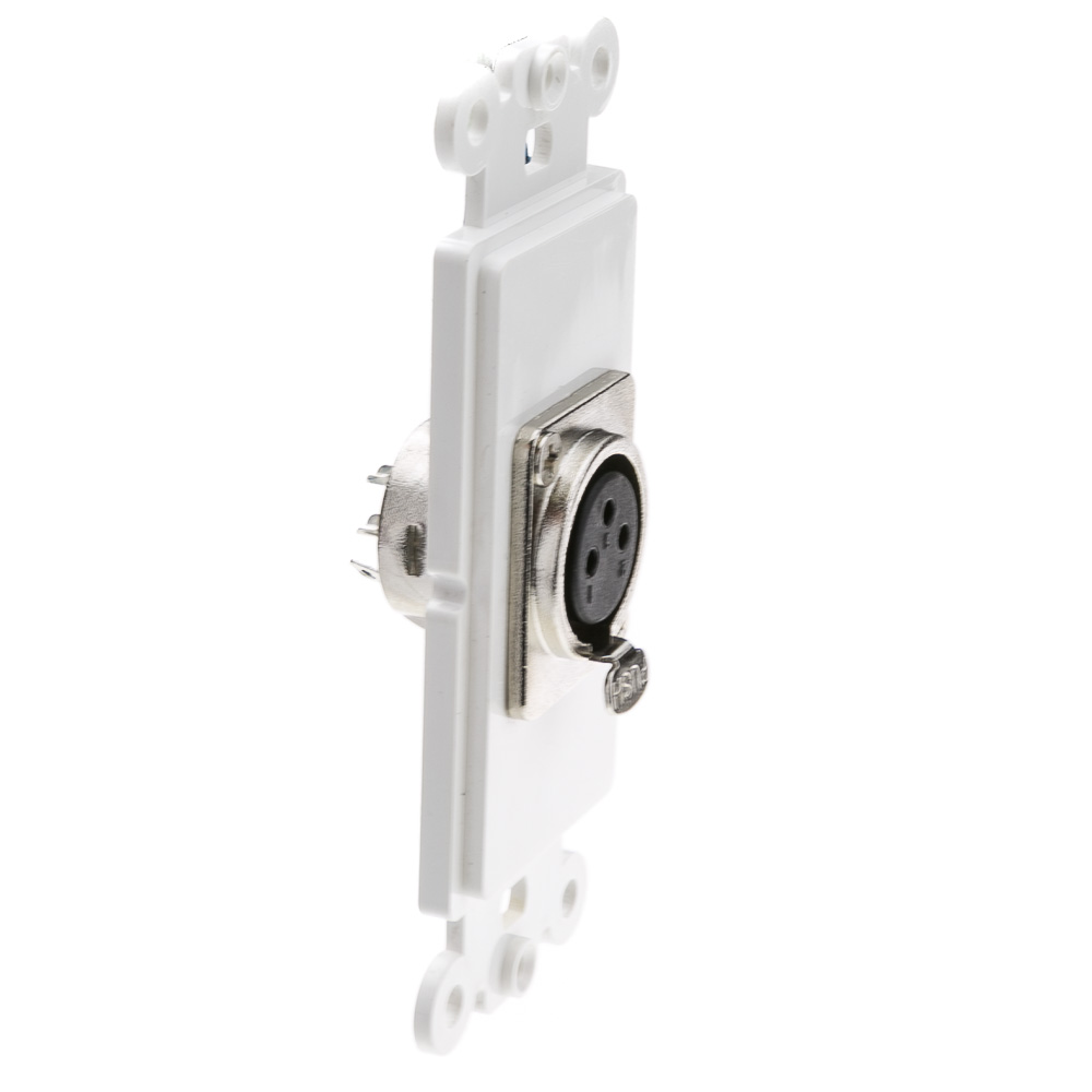 hight resolution of  decora wall plate insert white xlr female to solder type part number