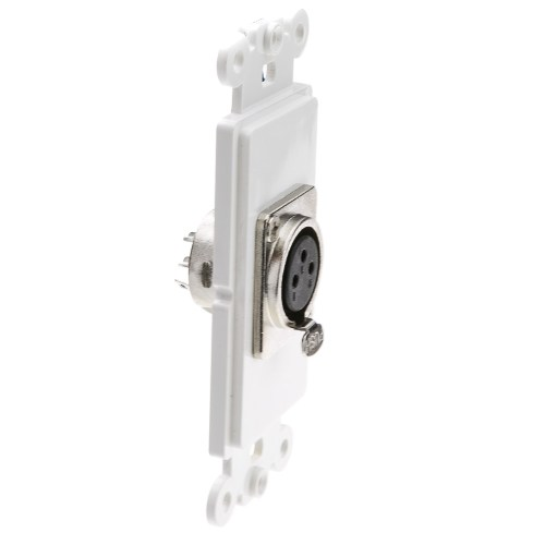 small resolution of  decora wall plate insert white xlr female to solder type part number