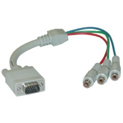Vga To Component Wiring Diagram 2009 Klr 650 1ft Video Cable Hd15 3 Rca Female
