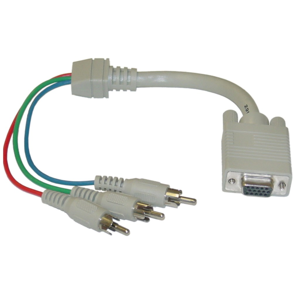 medium resolution of vga to component video adapter hd15 female to 3 x rca male rgb