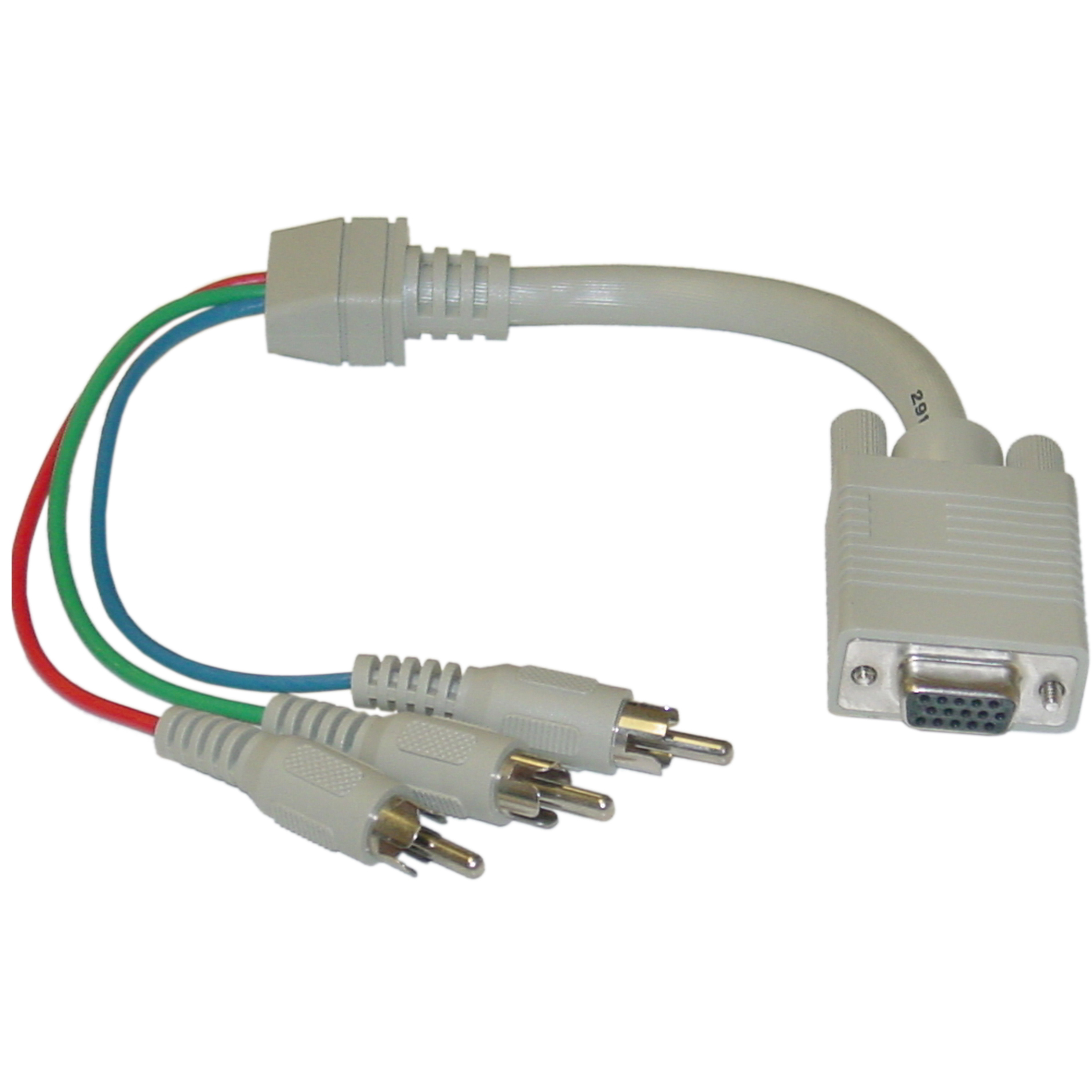 hight resolution of vga to component video adapter hd15 female to 3 x rca male rgb