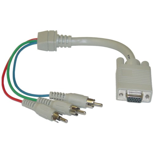 small resolution of vga to component video adapter hd15 female to 3 x rca male rgb