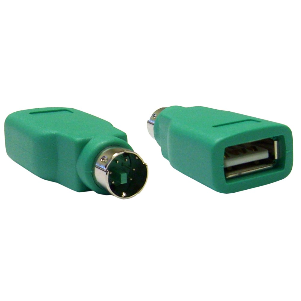 medium resolution of usb to ps 2 keyboard mouse adapter green usb type a female