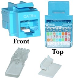 blue cat5e rj45 keystone jack toollesscat5e keystone jack blue toolless rj45 female [ 1460 x 1460 Pixel ]