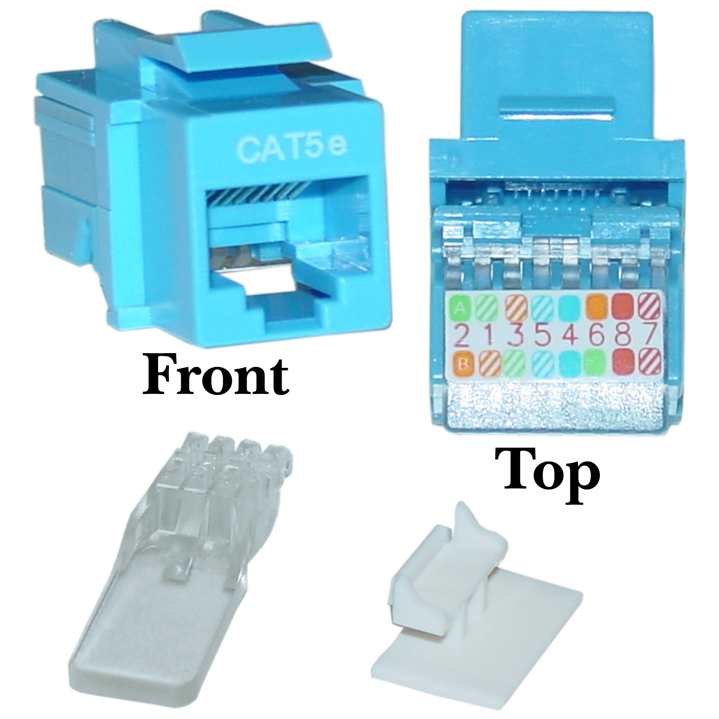 hight resolution of blue cat5e rj45 keystone jack toollesscat5e keystone jack blue toolless rj45 female