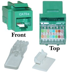 cat5e keystone jack green toolless rj45 female part number 311  [ 1528 x 1528 Pixel ]