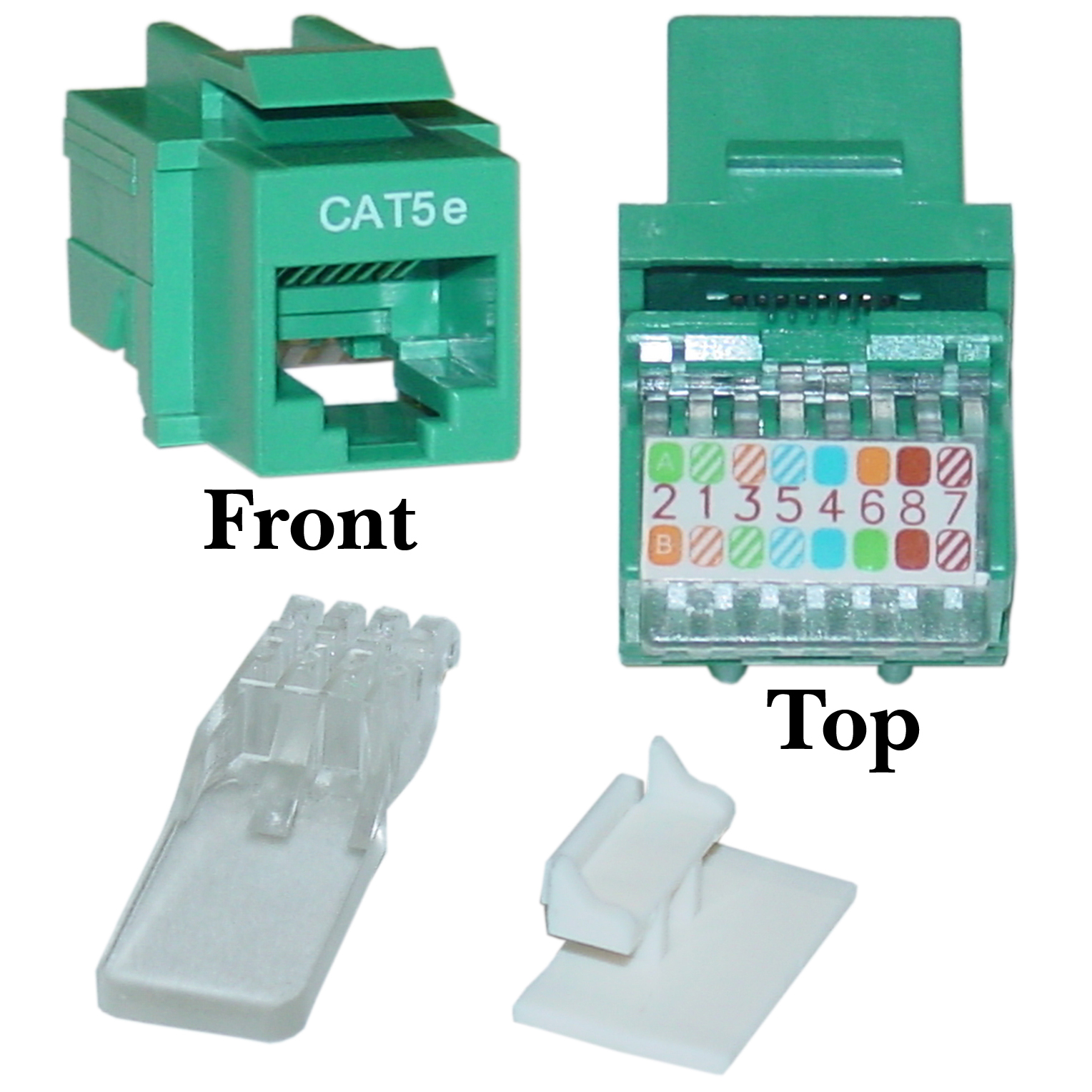 hight resolution of cat5e keystone jack green toolless rj45 female part number 311