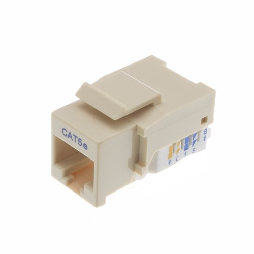 small resolution of cat5e keystone jack beige ivory toolless rj45 female part number