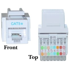 Rj45 Cat5e Wiring Diagram Itil Processes White Keystone Jack Toolless Cablewholesale