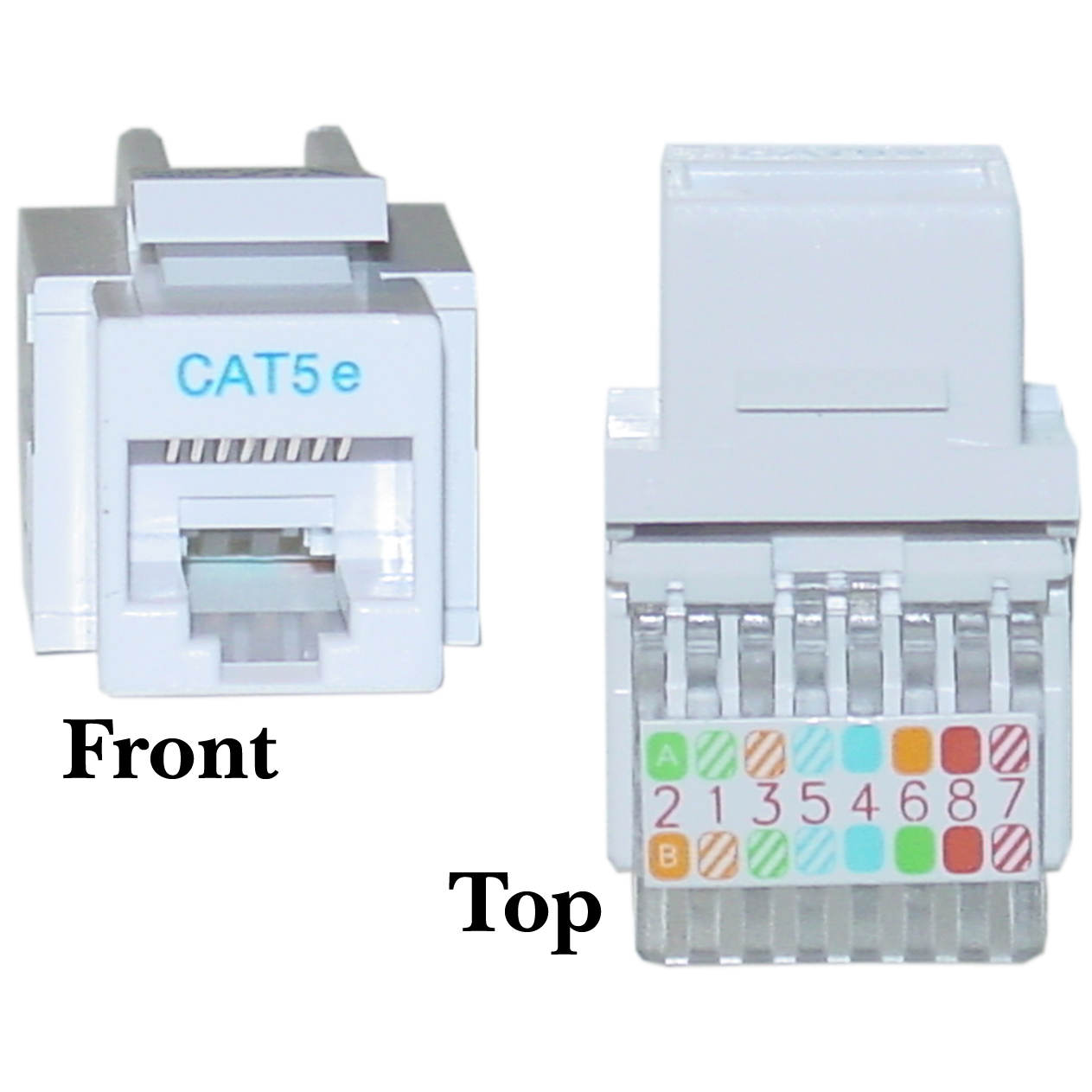 ethernet wiring diagram wall jack ford 2g alternator white cat5e rj45 keystone toolless cablewholesale
