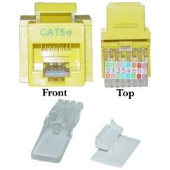 Rj45 Jack Wiring Diagram Vw Sharan Towbar Yellow Cat5e Keystone Toolless