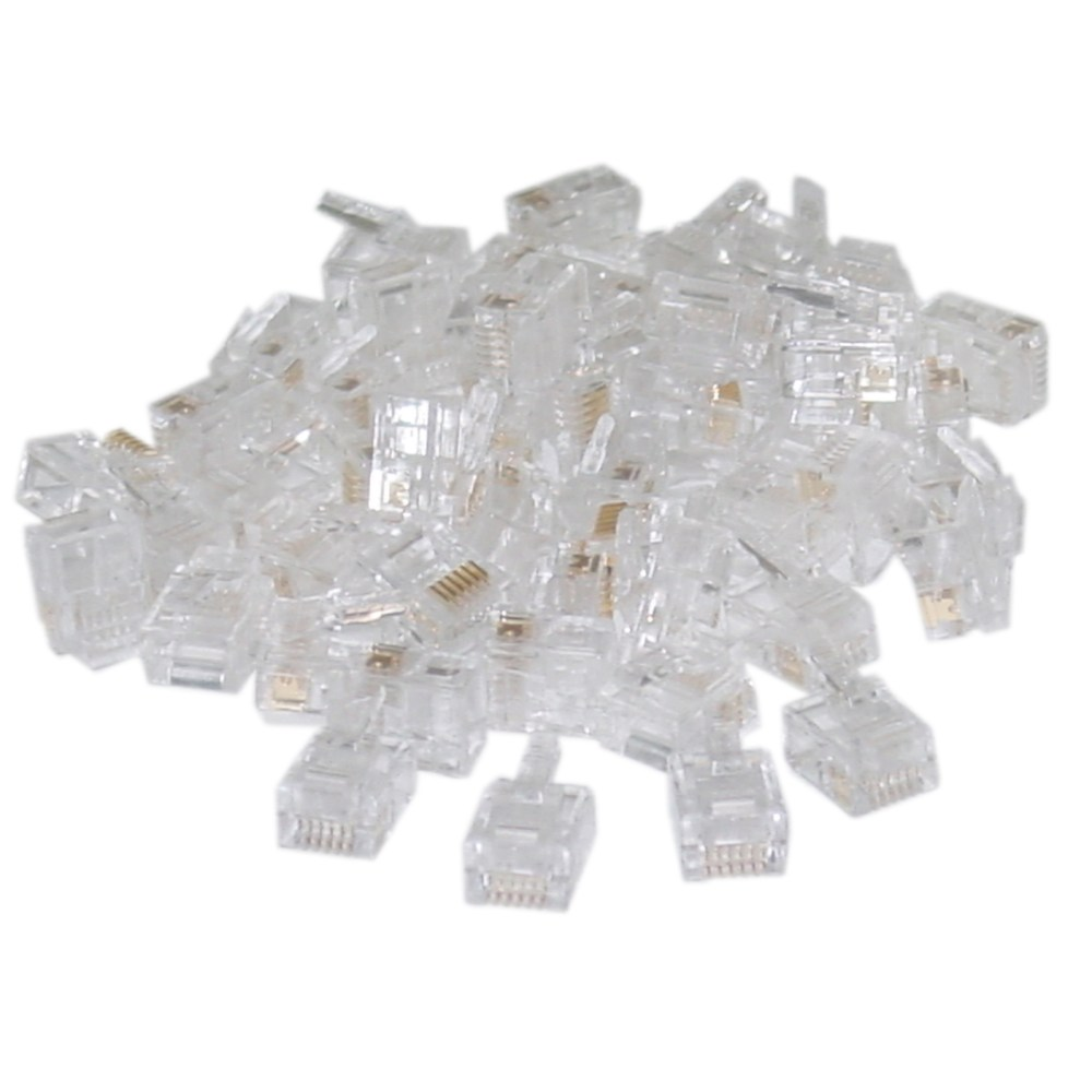 medium resolution of phone data rj11 crimp connectors for stranded wire 6p4c 50 pieces