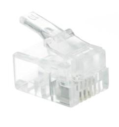 phone data rj11 crimp connectors for stranded wire 6p4c 50 pieces part [ 1000 x 1000 Pixel ]