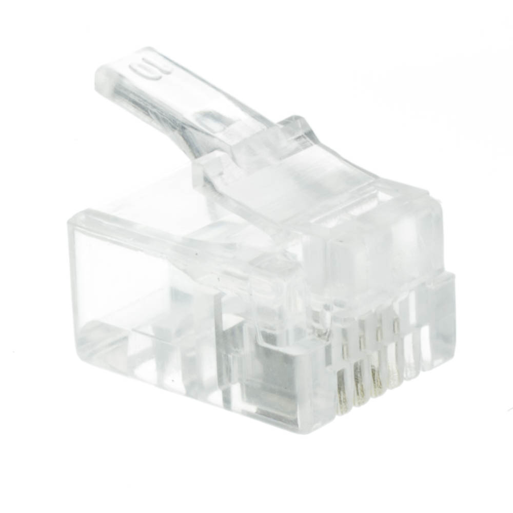 medium resolution of rj11 6p4c modular plug for stranded wire bag of 50 rj11 jack wiring rj11 phone wiring diagram