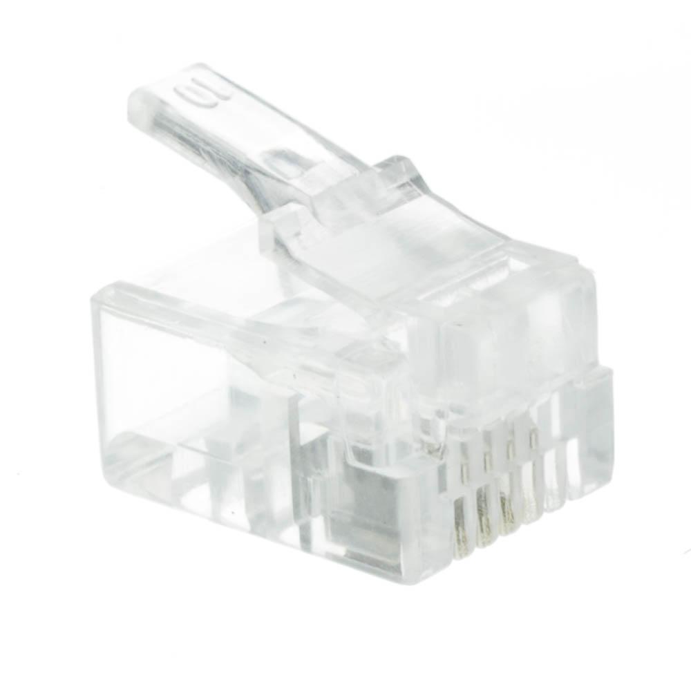hight resolution of rj11 6p4c modular plug for stranded wire bag of 50 rj11 jack wiring rj11 phone wiring diagram