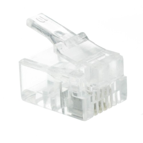 small resolution of rj11 6p4c modular plug for stranded wire bag of 50 rj11 jack wiring rj11 phone wiring diagram