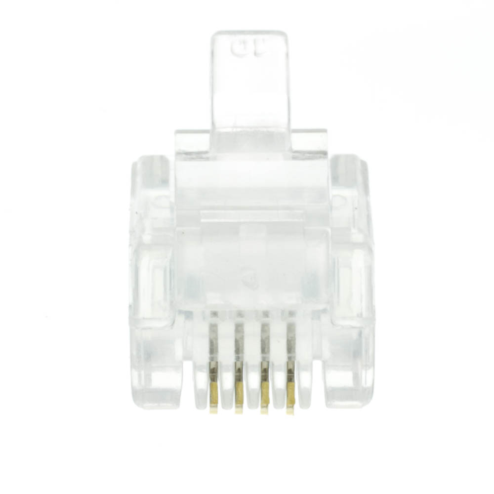 hight resolution of  phone data rj11 crimp connectors for stranded wire 6p4c 50 pieces part