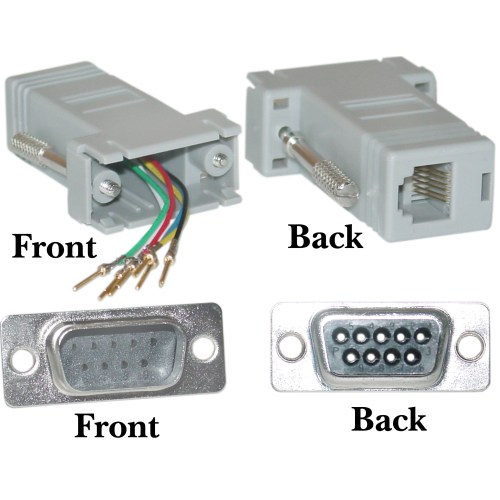 small resolution of modular adapter db9 male to rj12 gray db9 to db25 rj12 to db9 female wiring