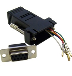 modular adapter black db9 female to rj12 jack part number 31d1  [ 1143 x 1143 Pixel ]