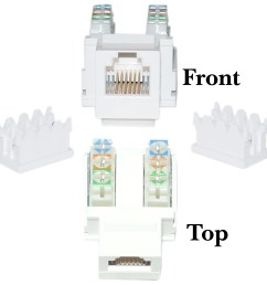rj11 punch down diagram wiring diagram writephone data jack keystone rj11 rj12 female to 110 rj11 [ 1720 x 1720 Pixel ]