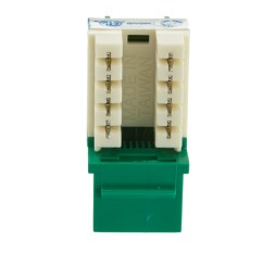 cat6 keystone jack green rj45 female to 110 punch down part number  [ 1000 x 1000 Pixel ]