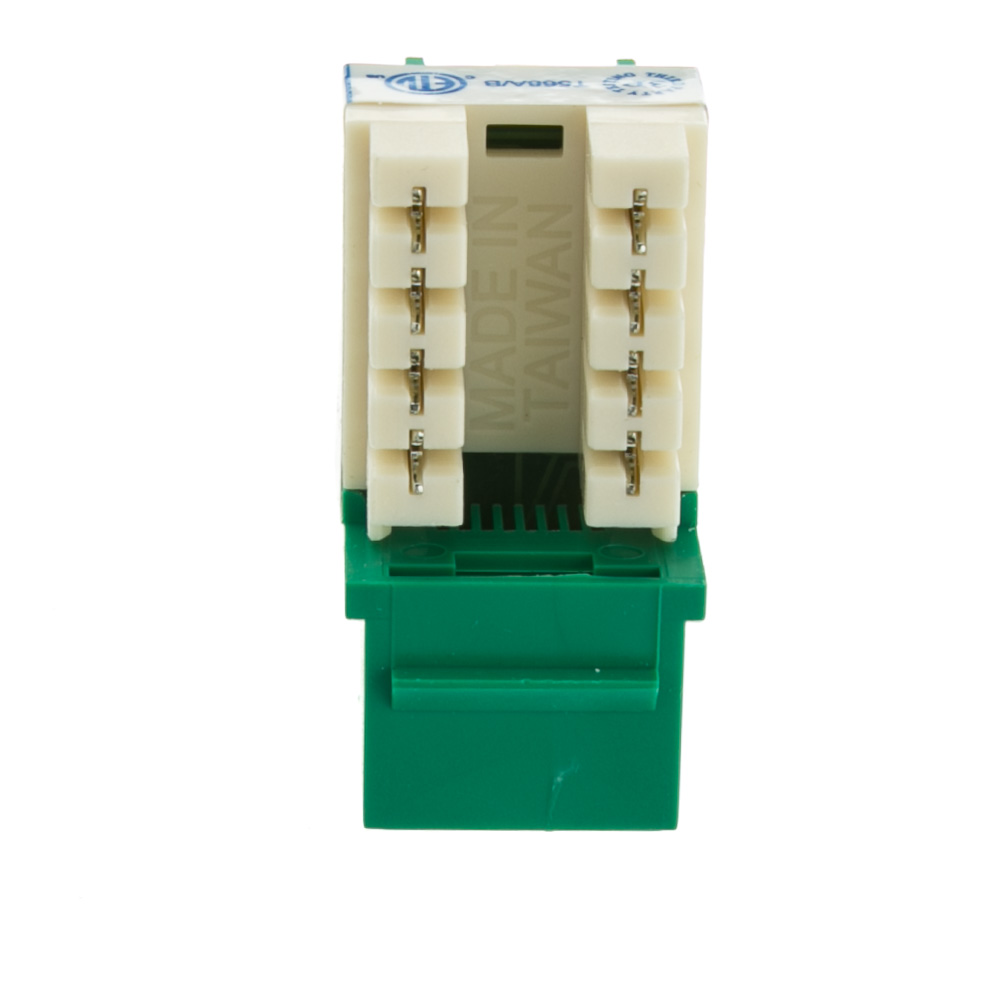 hight resolution of  cat6 keystone jack green rj45 female to 110 punch down part number