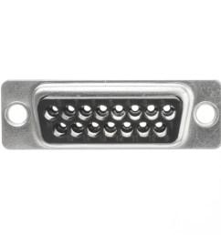 db15 male mac joystick crimp housing part number 3309 015m  [ 1000 x 1000 Pixel ]
