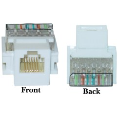 Rj11 Wall Jack Wiring Diagram Car Horn White Phone Keystone Rj12 To Wire Insert