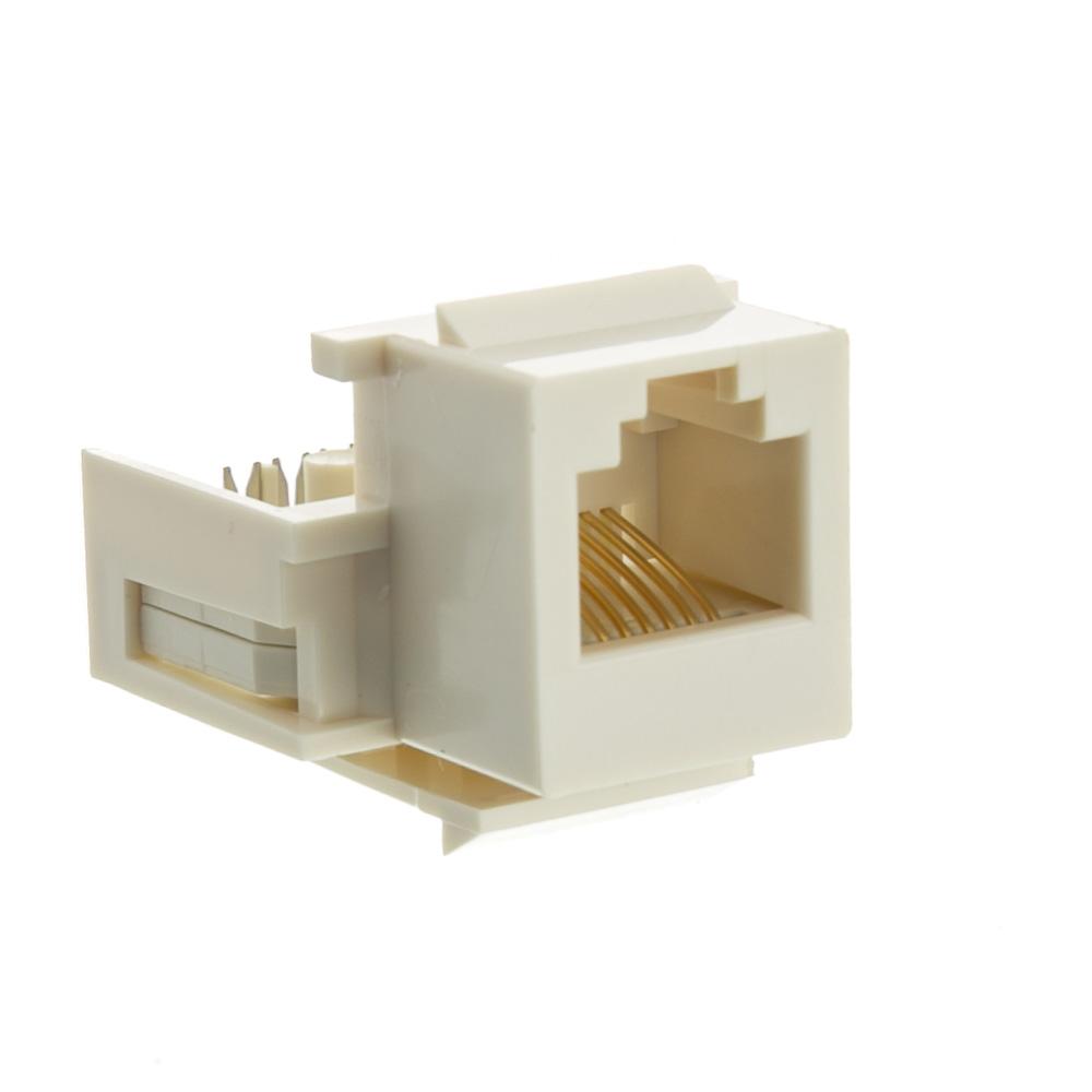 hight resolution of keystone insert white phone jack tooless rj11 rj12 female to wire