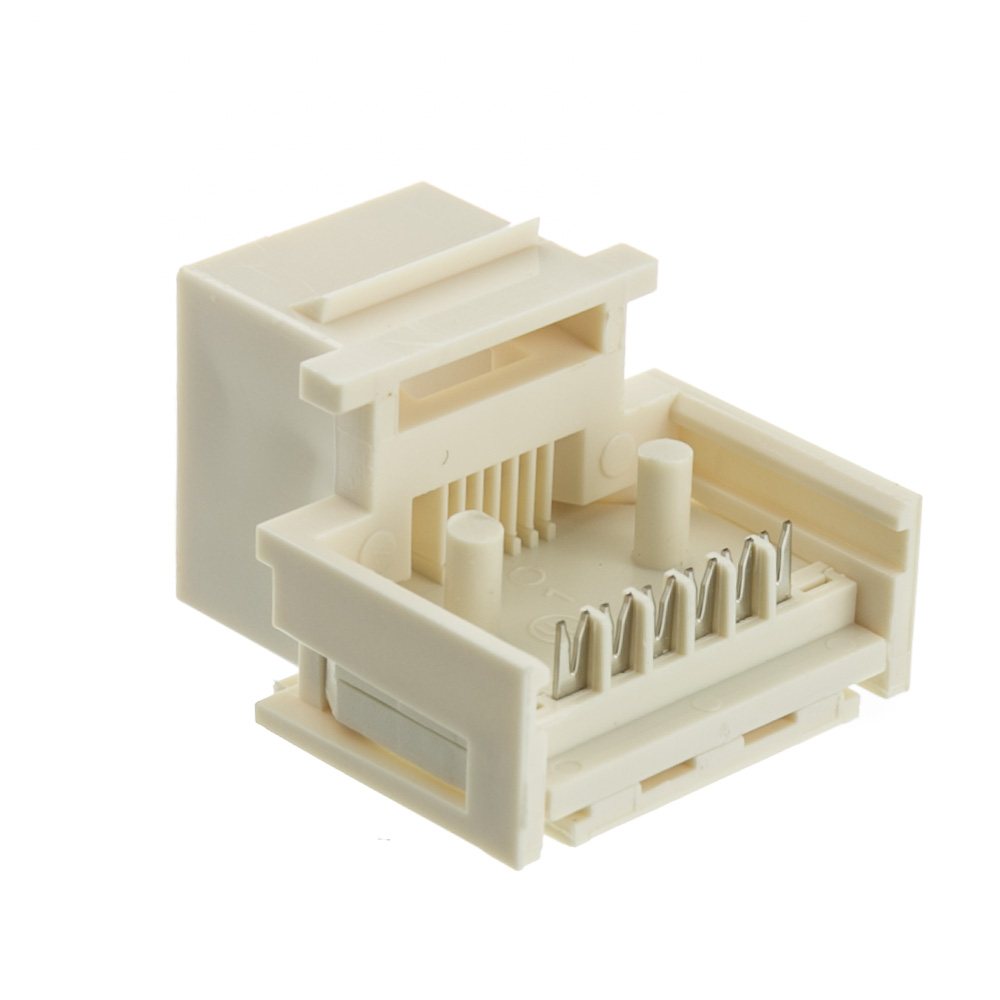 medium resolution of  keystone insert white phone jack tooless rj11 rj12 female to wire