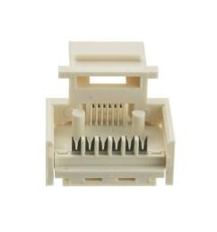 keystone insert white phone jack tooless rj11 rj12 female to wire  [ 1000 x 1000 Pixel ]