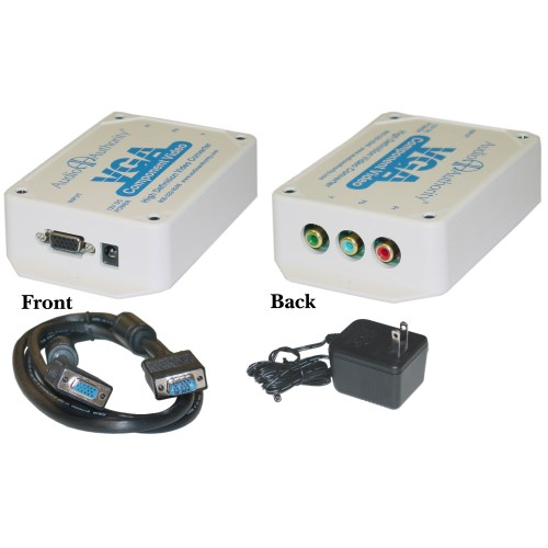 small resolution of vga to component video converter for hdtvs hd15 female to 3 rca female rgb