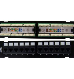 wall mount 12 port cat5e patch panel 110 type 10 inch phone patch panel wiring diagram [ 2532 x 2532 Pixel ]