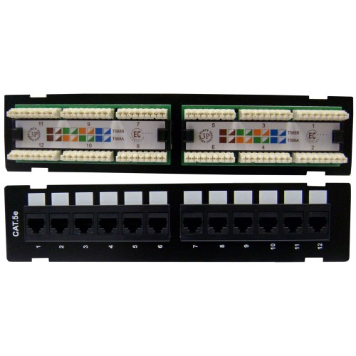 small resolution of wall mount 12 port cat5e patch panel 110 type 10 inch phone patch panel wiring diagram