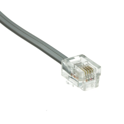 small resolution of  straight telephone cord data rj11 6p 4c silver satin