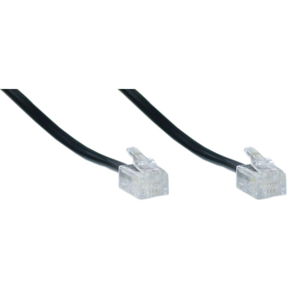 medium resolution of telephone cord voice rj11 6p 4c black reverse