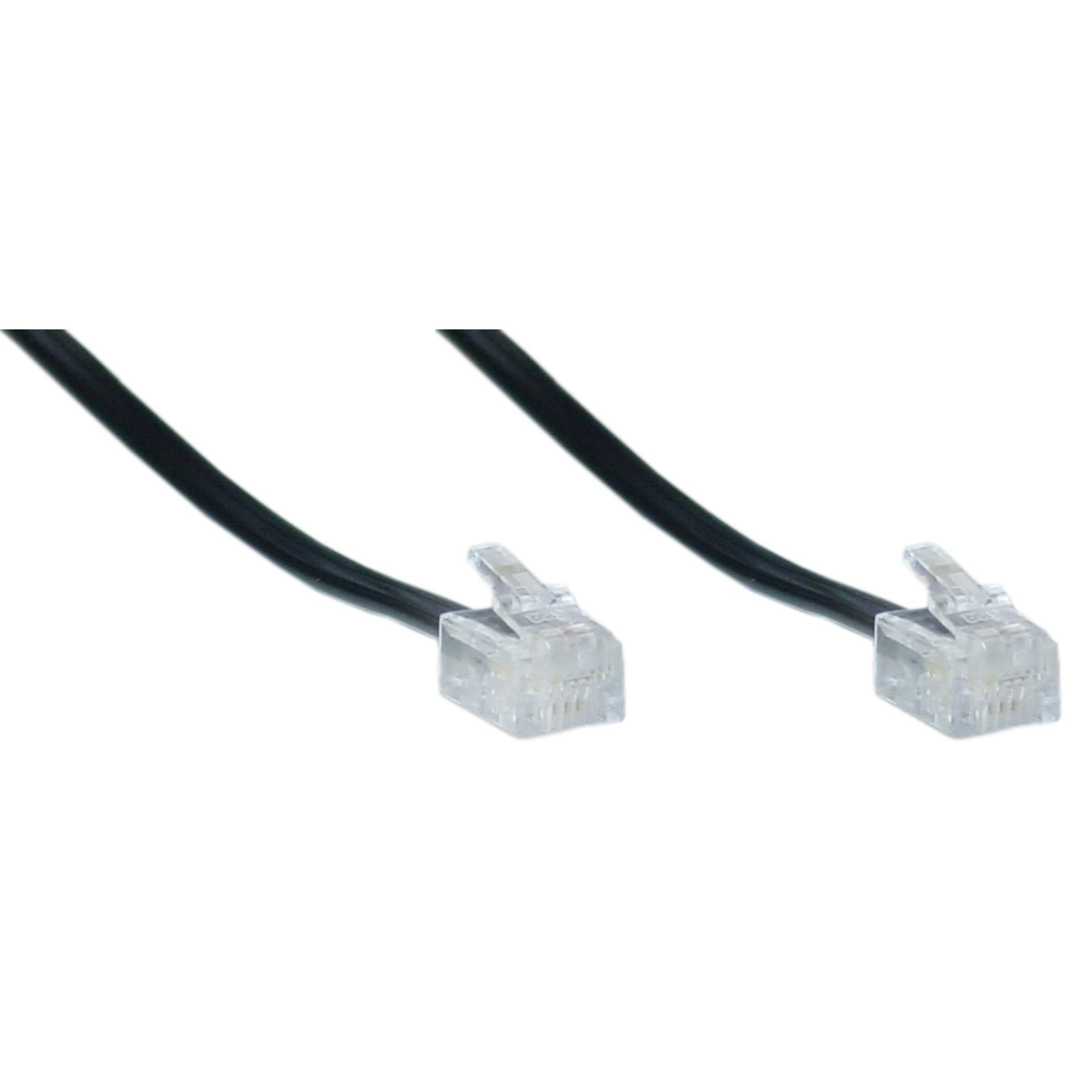 hight resolution of telephone cord voice rj11 6p 4c black reverse