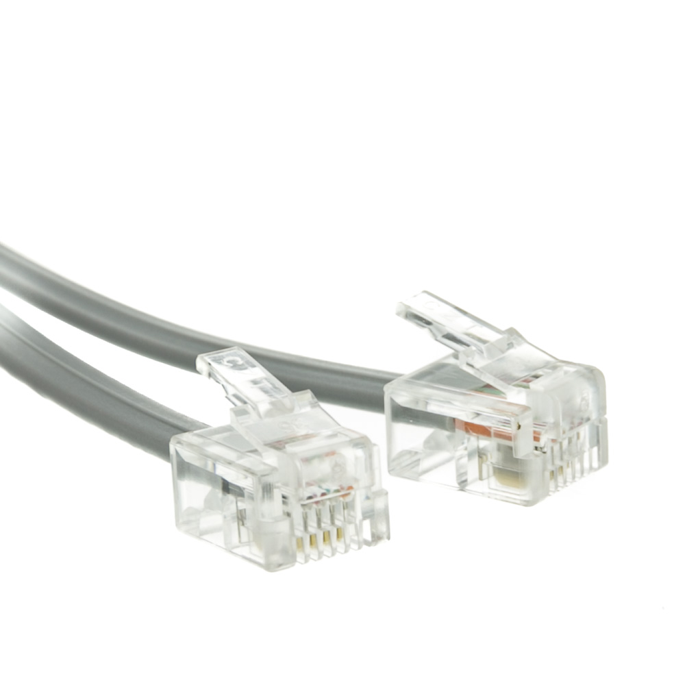 hight resolution of telephone cord voice rj11 6p 4c silver satin reverse