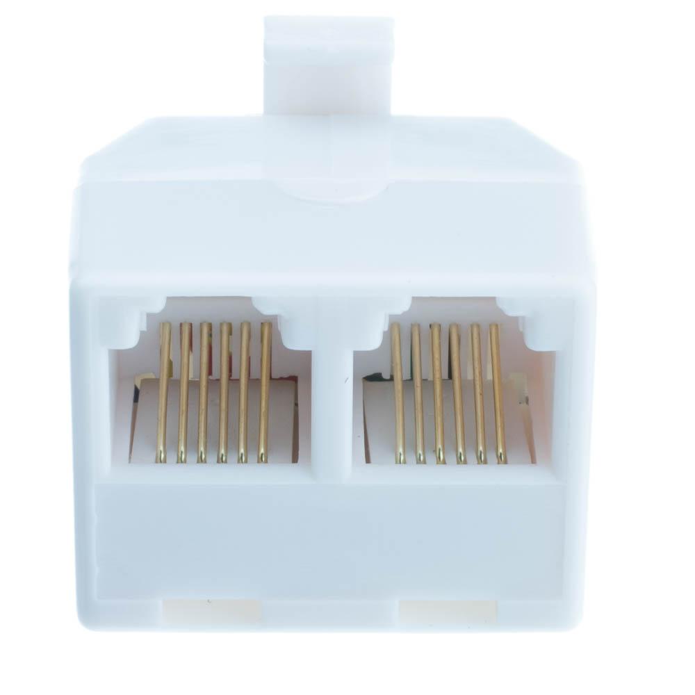 medium resolution of  phone splitter straight rj11 rj12 male to two rj11 rj12 female