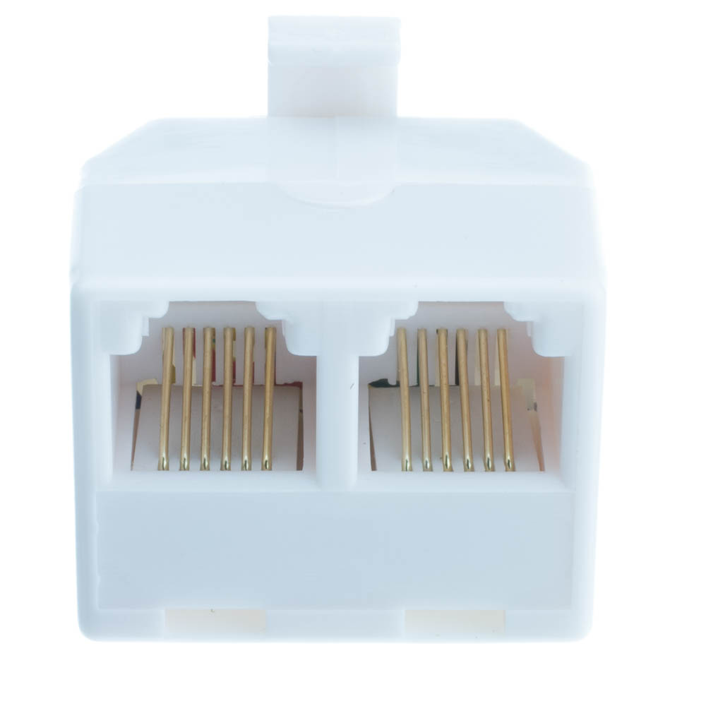 hight resolution of  phone splitter straight rj11 rj12 male to two rj11 rj12 female