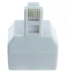 phone splitter straight rj11 rj12 male to two rj11 rj12 female [ 1000 x 1000 Pixel ]