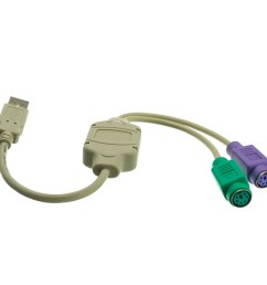 usb to ps 2 active adapter usb type a male to 2 ps  [ 1000 x 1000 Pixel ]