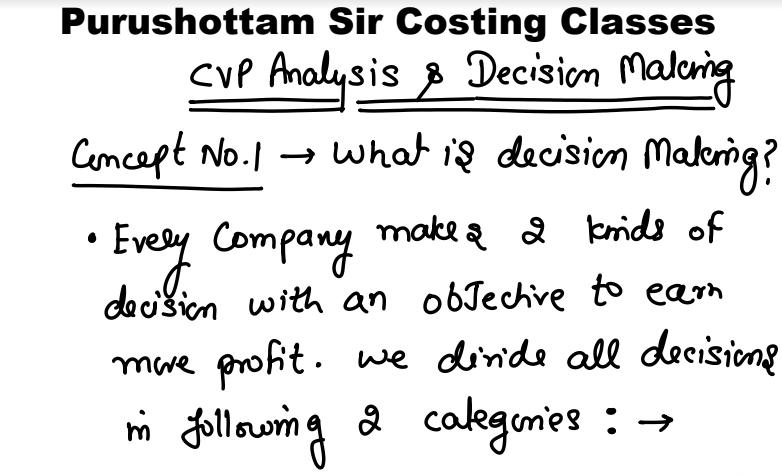 CA Final Costing Latest Class notes (Handwritten Notes) in