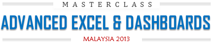 Advanced Excel & Dashboards Masterclass by Chandoo.org - Malaysia 2013