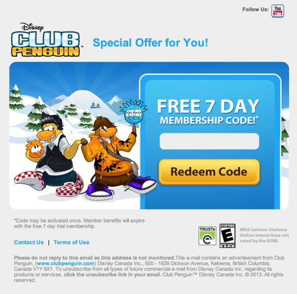 club penguin emailing free
