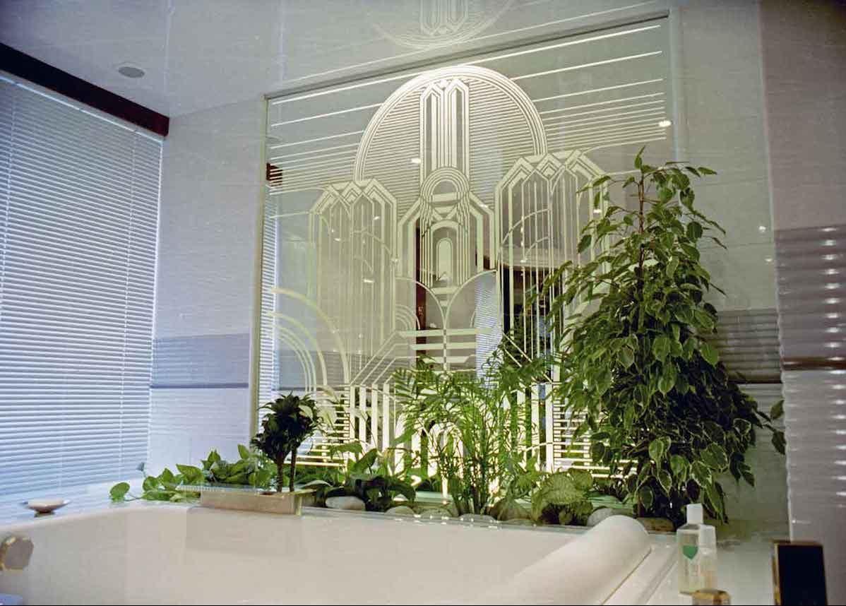je veux une salle de bain art deco
